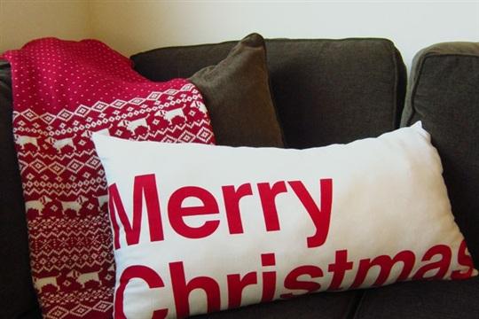 Merry Christmas dish cloth pillow
