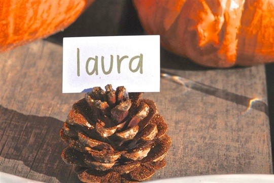 Pinecone Craft Fall Place Card Holders