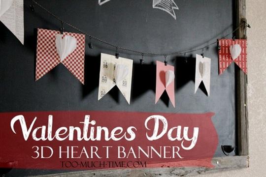 Easy 3D Valentines Banner