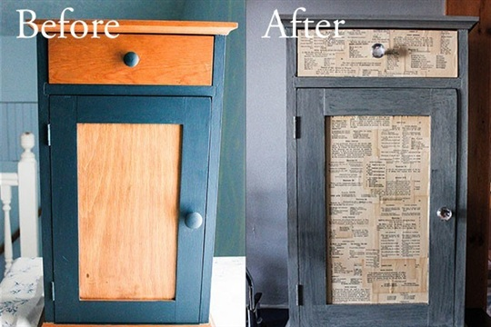 A DIY Kitchen Cabinetry Update for Book Lovers