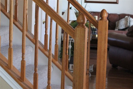 Painting our banister