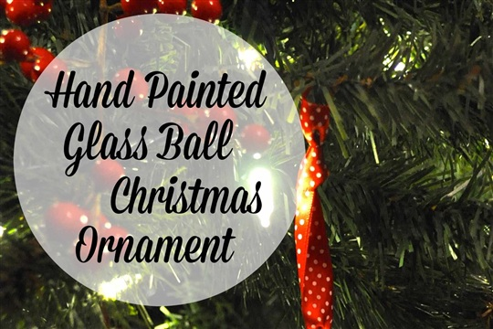 Hand Painted Glass Ball Christmas Ornaments