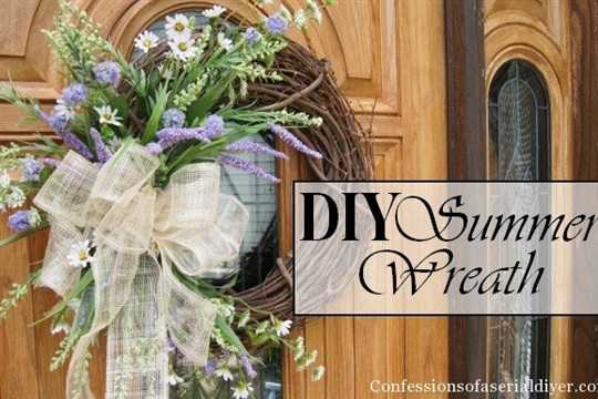 DIY Summer Wreath for Under $10!!