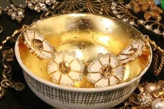 Gold Leaf Bowl DIY