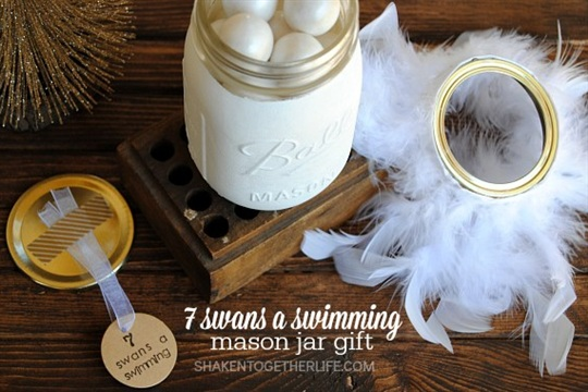 7 Swans a Swimming Mason Jar Gift