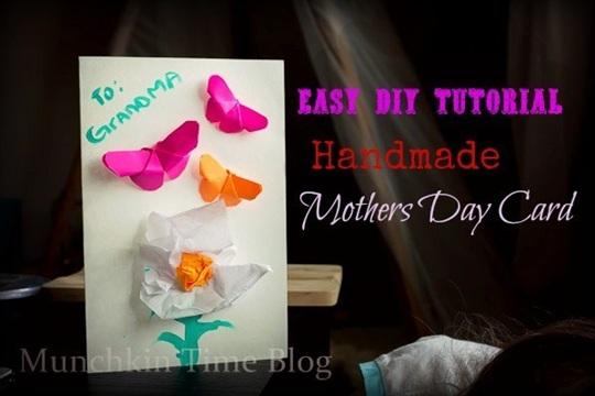 Easy DIY Tutorial Handmade Mothers Day Card