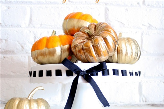Gilded and Gold Dipped Pumpkins